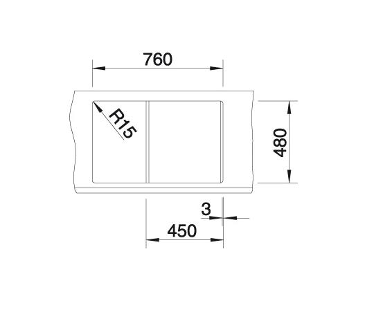 Blanco Metra 45 S 515039 Spoelbak Silgranit Café Omkeerbaar Onderbouw Of Opbouw