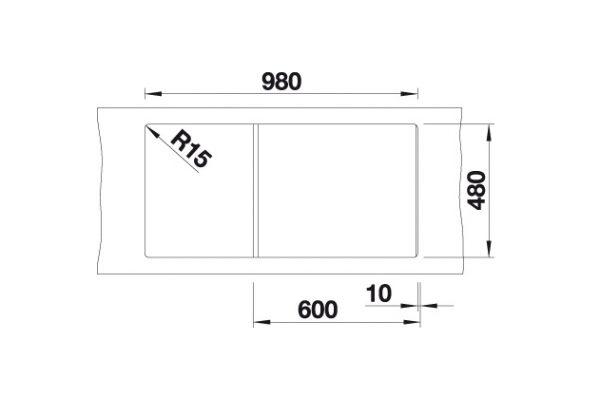 Blanco Zia Xl 6 S 517561 Spoelbak Silgranit Wit Inclusief Draaiknopbediening Omkeerbaar Onderbouw Of Opbouw