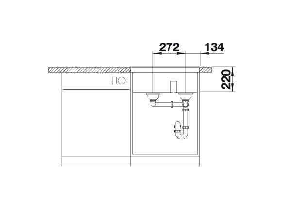 Blanco Pleon 6 Split 521692 Anderhalve Spoelbak Links Silgranit Parelgrijs Onderbouw Of Opbouw