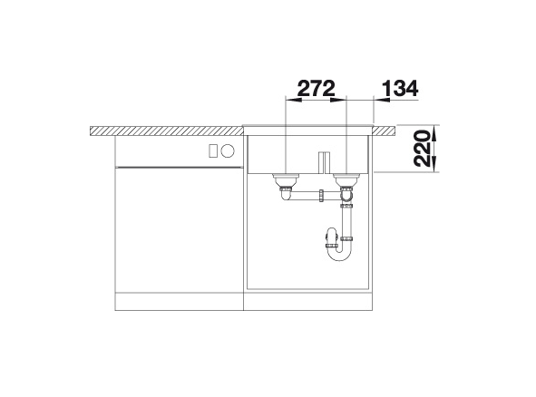 Blanco Pleon 6 Split 521698 Anderhalve Spoelbak Links Silgranit Café Onderbouw Of Opbouw