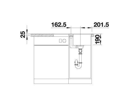 Blanco Lexa 40 S 524889 Spoelbak Silgranit Café Inclusief Draaiknopbediening Omkeerbaar Onderbouw Of Opbouw