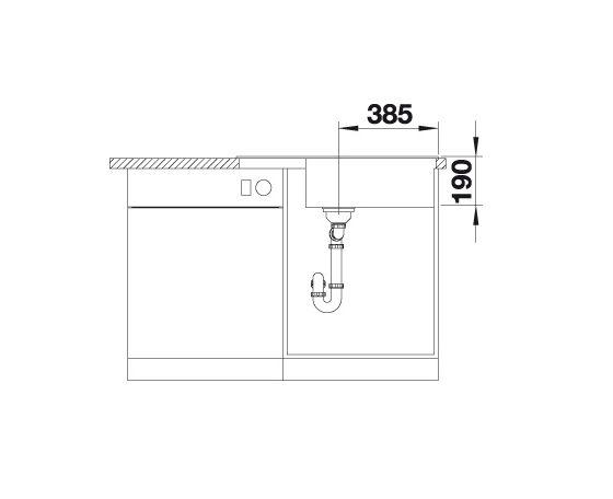 Blanco Zia Xl 6 S Compact 523267 Spoelbak Silgranit Wit Inclusief Draaiknopbediening Omkeerbaar Onderbouw Of Opbouw