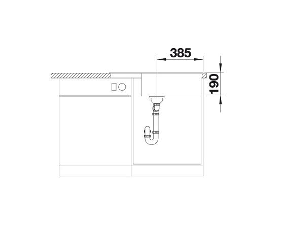 Blanco Zia Xl 6 S Compact 523275 Spoelbak Silgranit Aluminium Metallic Omkeerbaar Onderbouw Of Opbouw