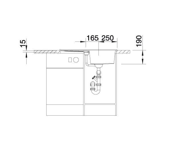 Blanco Metra 45 S 513186 Spoelbak Silgranit Aluminium Metallic Omkeerbaar Onderbouw Of Opbouw