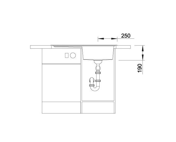 Blanco Zenar 45 S 523781 Spoelbak Rechts Silgranit Antraciet Inclusief Draaiknopbediening Onderbouw Of Opbouw