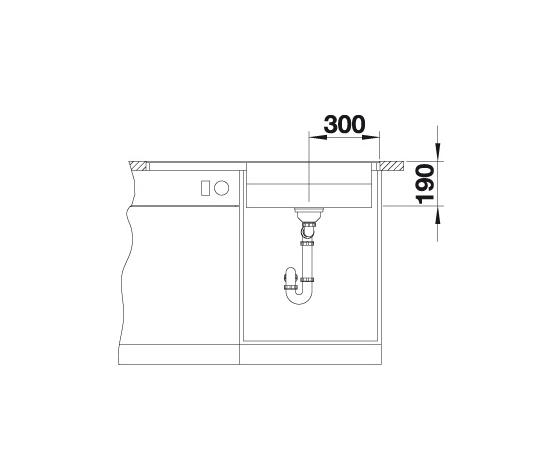 Blanco Zenar Xl 6 S-F Steamerplus 524083 Spoelbak Rechts Silgranit Rotsgrijs Inclusief Draaiknopbediening Inclusief Houten Snijplank Vlakbouw Of Onderbouw