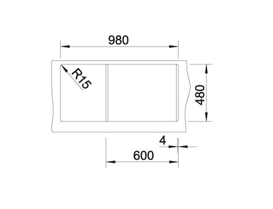 Blanco Lexa 6 S 524932 Spoelbak Silgranit Aluminium Metallic Inclusief Draaiknopbediening Inclusief Accessoires Omkeerbaar Onderbouw Of Opbouw