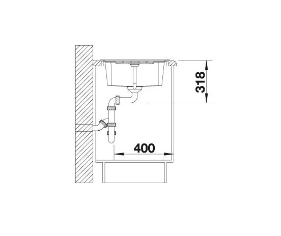 Blanco Lexa 45 S 524919 Spoelbak Silgranit Café Omkeerbaar Onderbouw Of Opbouw