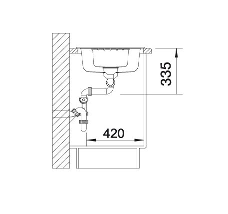 Blanco Zia 6 S 517418 Spoelbak Silgranit Tartufo Inclusief Draaiknopbediening Omkeerbaar Onderbouw Of Opbouw