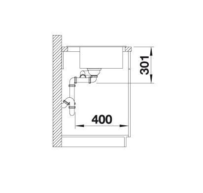 Blanco Lexa 9 E 524991 Spoelbak Silgranit Rotsgrijs Inclusief Draaiknopbediening Onderbouw Of Opbouw