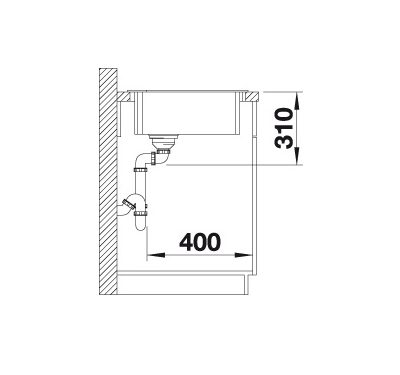 Blanco Zia 9 E 514763 Spoelbak Silgranit Tartufo Onderbouw Of Opbouw