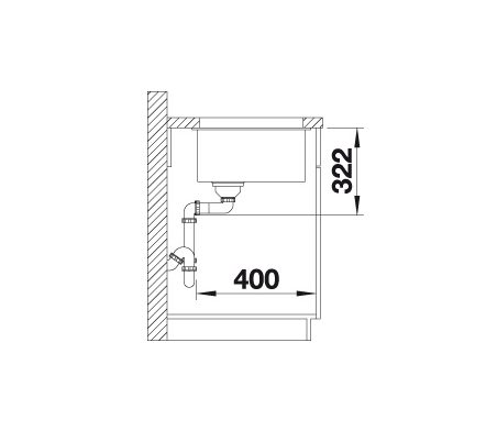 Blanco Subline 700-U Level 523539 Spoelbak Silgranit Rotsgrijs Onderbouw