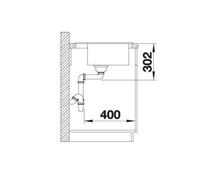 Blanco Zenar Xl 6 S Compact 523784 Spoelbak Rechts Silgranit Café Inclusief Draaiknopbediening Onderbouw Of Opbouw