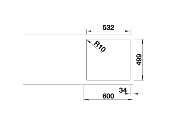 Blanco Subline 500-If/a Steelframe 524111 Spoelbak Silgranit Antraciet Inclusief Draaiknopbediening Vlakbouw Of Opbouw