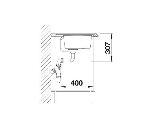 Blanco Zenar Xl 6 S-F 523929 Spoelbak Links Silgranit Wit Inclusief Draaiknopbediening Vlakbouw Of Onderbouw
