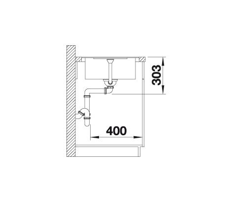 Blanco Metra 45 S-F 519088 Spoelbak Silgranit Café Omkeerbaar Vlakbouw Of Onderbouw