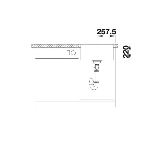 Blanco Pleon 5 521504 Spoelbak Silgranit Antraciet Onderbouw Of Opbouw
