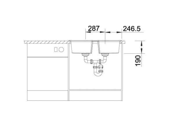 Blanco Lexa 8 524950 Dubbele Spoelbak Silgranit Antraciet Inclusief Draaiknopbediening Omkeerbaar Onderbouw Of Opbouw