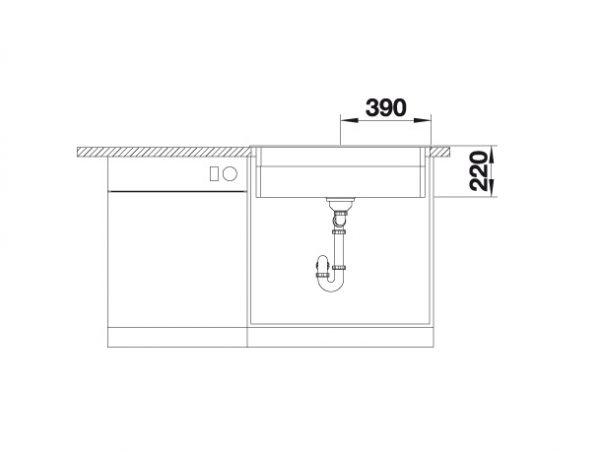Blanco Etagon 8 525187 Spoelbak Silgranit Antraciet Inclusief Rails Opbouw