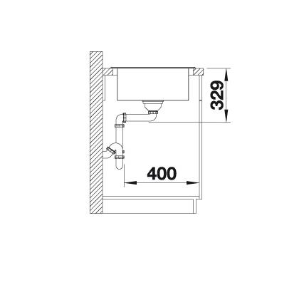 Blanco Elon Xl 8 S 524870 Spoelbak Silgranit Antraciet Inclusief Rooster Omkeerbaar Onderbouw Of Opbouw
