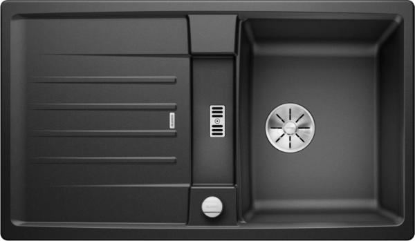 Blanco Lexa 45 S 524900 Spoelbak Silgranit Antraciet Inclusief Draaiknopbediening Omkeerbaar Onderbouw Of Opbouw
