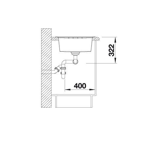 Blanco Lexa 8 S 524980 Dubbele Spoelbak Silgranit Antraciet Omkeerbaar Onderbouw Of Opbouw