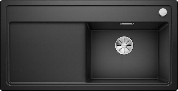 Blanco Zenar Xl 6 S Steamerplus 524066 Spoelbak Rechts Silgranit Antraciet Inclusief Draaiknopbediening Inclusief Glazen Snijplank Onderbouw Of Opbouw