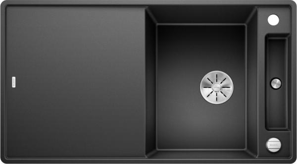 Blanco Axia Iii 5 S-F 523231 Spoelbak Silgranit Antraciet Inclusief Draaiknopbediening Inclusief Glazen Snijplank Omkeerbaar Vlakbouw Of Onderbouw