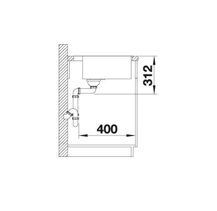Blanco Subline 500-If/a Steelframe 524112 Spoelbak Silgranit Wit Inclusief Draaiknopbediening Vlakbouw Of Opbouw