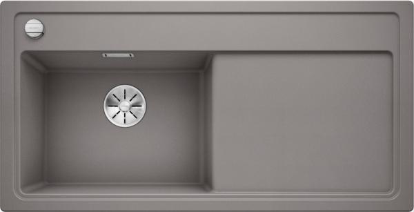 Blanco Zenar Xl 6 S 523998 Spoelbak Links Silgranit Aluminium Metallic Inclusief Draaiknopbediening Onderbouw Of Opbouw