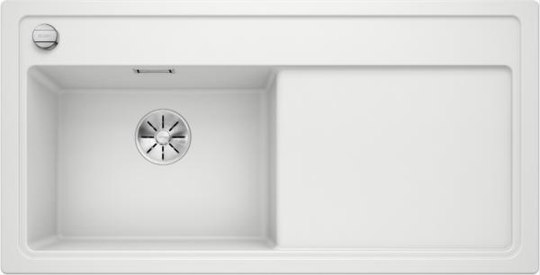 Blanco Zenar Xl 6 S 524001 Spoelbak Links Silgranit Wit Inclusief Draaiknopbediening Onderbouw Of Opbouw