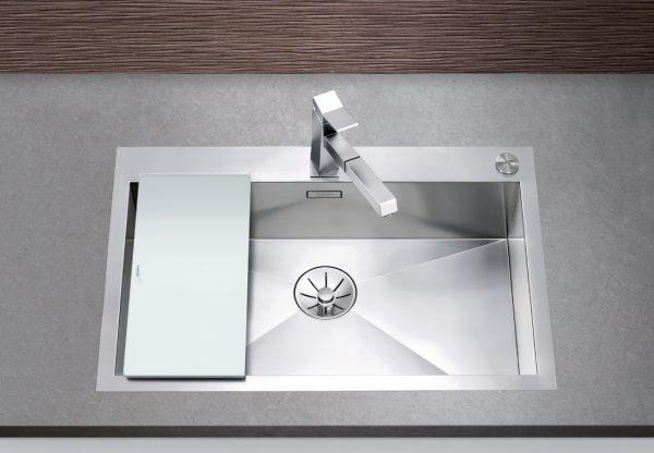 Blanco Zerox 700-If/a 521631 Spoelbak Rvs Inclusief Pushcontrol Bediening Vlakbouw Of Opbouw