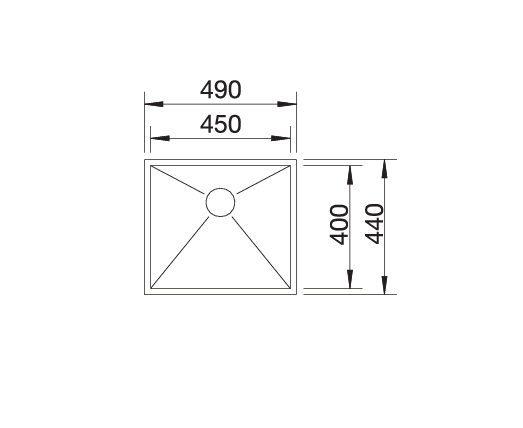 Blanco Zerox 450-If 521586 Spoelbak Rvs Vlakbouw Of Opbouw
