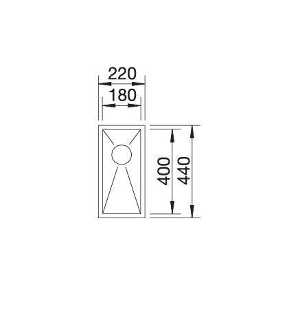 Blanco Zerox 180-If 521566 Spoelbak Rvs Vlakbouw Of Opbouw