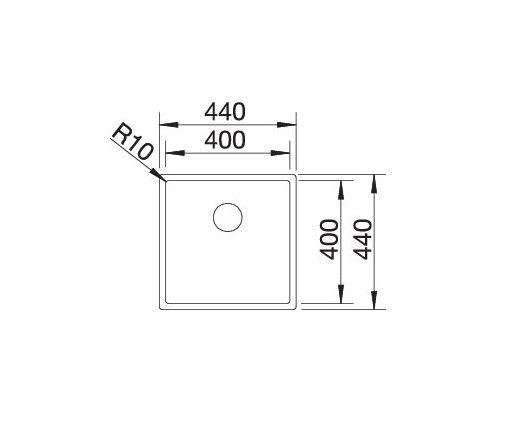 Blanco Claron 400-If Durinox 523389 Spoelbak Rvs Vlakbouw Of Opbouw