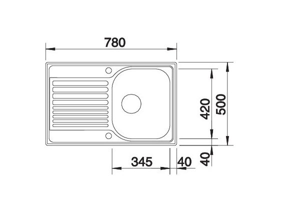 Blanco Tipo 45 S Compact 513675 Gestructureerd Rvs Spoelbak Omkeerbaar Opbouw