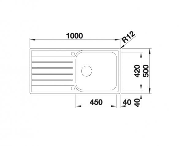 Blanco Livit Xl 6 S 518519 Spoelbak Rvs Inclusief Draaiknopbediening Omkeerbaar Opbouw