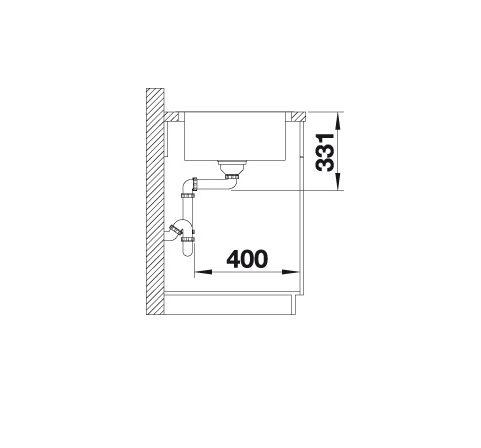 Blanco Lemis Xl 6 S-If 523034 Spoelbak Rvs Omkeerbaar Vlakbouw Of Opbouw