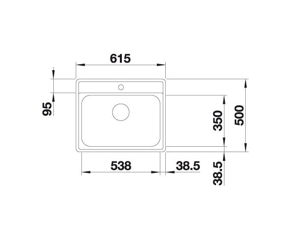 Blanco Lemis 6-If 525108 Spoelbak Rvs Vlakbouw Of Opbouw