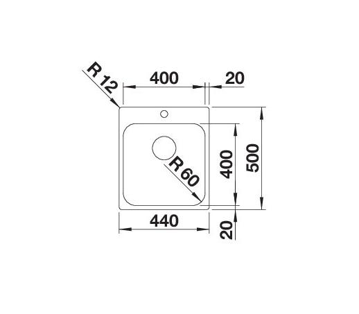 Blanco Supra 400-If/a 523358 Spoelbak Rvs Vlakbouw Of Opbouw