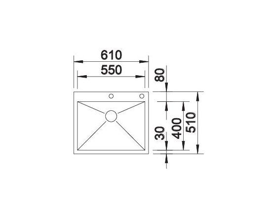 Blanco Zerox 550-If/a 521638 Spoelbak Rvs Inclusief Pushcontrol Bediening Vlakbouw Of Opbouw