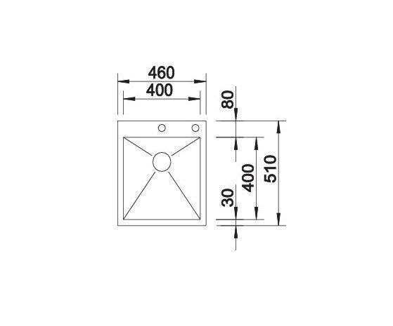 Blanco Zerox 400-If/a 521629 Spoelbak Rvs Inclusief Pushcontrol Bediening Vlakbouw Of Opbouw