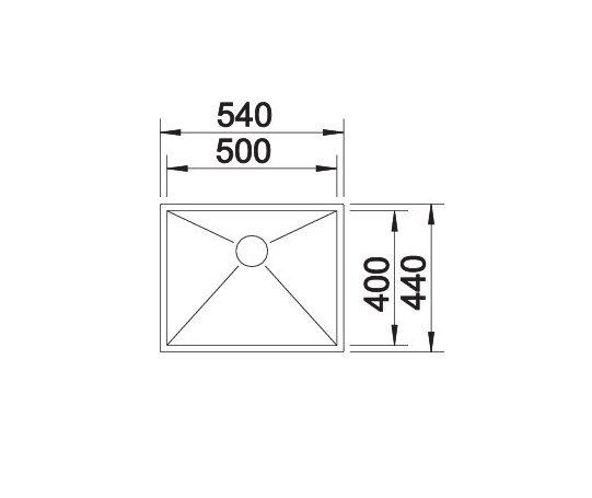 Blanco Zerox 500-If 521588 Spoelbak Rvs Vlakbouw Of Opbouw
