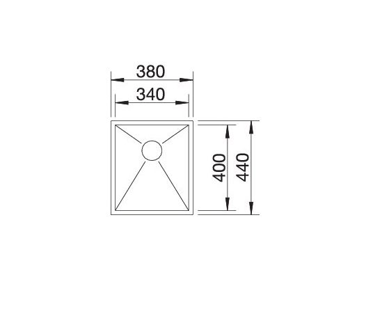 Blanco Zerox 340-If 521582 Spoelbak Rvs Vlakbouw Of Opbouw