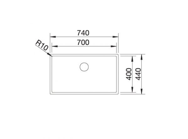 Blanco Claron 700-If Durinox 523391 Spoelbak Rvs Vlakbouw Of Opbouw