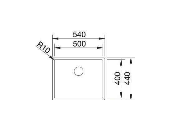 Blanco Claron 500-If Durinox 523390 Spoelbak Rvs Vlakbouw Of Opbouw
