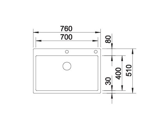 Blanco Claron 700-If/a Durinox 523394 Spoelbak Inclusief Pushcontrol Bediening Vlakbouw Of Opbouw
