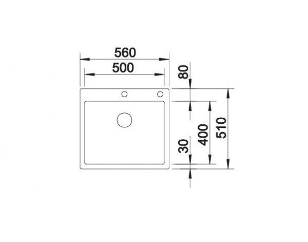 Blanco Claron 500-If/a Durinox 523393 Spoelbak Inclusief Pushcontrol Bediening Vlakbouw Of Opbouw