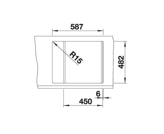 Blanco Tipo 45 S 516525 Gestructureerd Rvs Spoelbak Omkeerbaar Opbouw