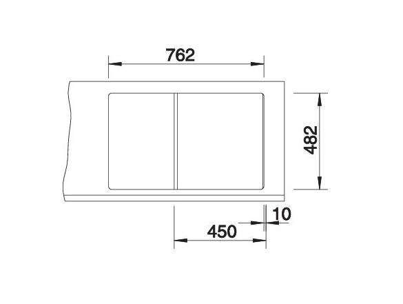 Blanco Tipo 45 S Compact 513442 Spoelbak Rvs Omkeerbaar Opbouw